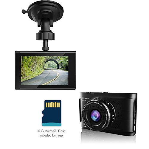 Elecwave Full HD Car Vehicle HD Dash Camera DVR Cam Recorder with 16GB micro SD card (Camera For A Car compare prices)