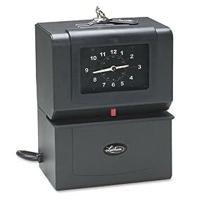 Lathem® Time Automatic Model Heavy-Duty Time Recorder, Gray