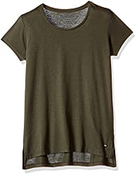 Deal Jeans Women's Body Blouse Top (20444_Olive_Large)