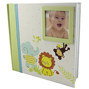 C.R. Gibson Stepping Stones Baby Photo Album, Jungle Friends