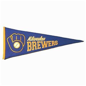 Milwaukee Brewers MLB Cooperstown Pennant  by Winning Streak