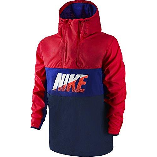 Nike Giacca da uomo Halfzip Jacket, Uomo, Rojo / Azul / Negro, M