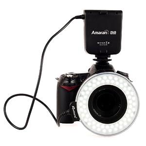 Aputure - AHL-C60 Macro Ring Flash LED Flash Annulaire 60 Ring Light pour Canon DSLR appareil photo Canon 7D 5DII 550D 60D 600D Nikon Avec 8 anneaux gratuits 49, 52, 55, 58, 62, 67, 72 et 77mm