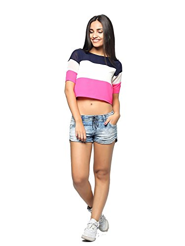 Binny-Creation-for-Womens-Multi-color-Crepe-Western-Crop-Top