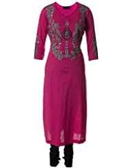 Pink Fine Cotton Kameez With Silver Zari Embroidered Churidar Suit