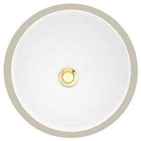 Porcher 11070-00.001 Archive Round Undercounter Lavatory, White