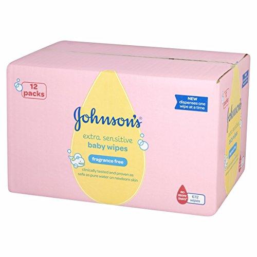 Johnson's Baby Toallitas Húmedas Sin Perfume Extra Suaves - 672 toallitas
