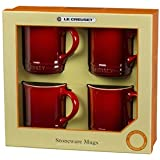 Le Creuset Mugs, Pearlized Cherry, Set of 4