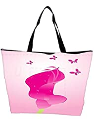 Snoogg Beautifull Background With Flower And Butterfly Design6 Waterproof Bag Made Of High Strength Nylon