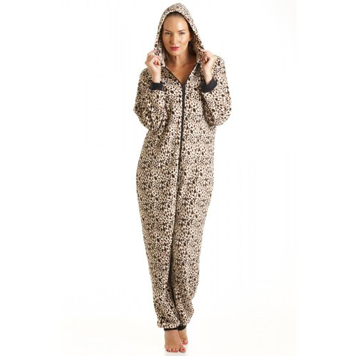 Camille Women's Hooded All In One Onesie Pajama