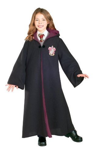 Rubie's 884259M Child's Deluxe Harry Potter Robe with Gryffindor Emblem, Medium (Discontinued by manufacturer)