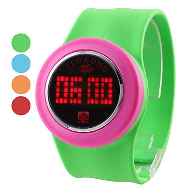 Unisex Cool Touch Screen Plastic Digital Led Wrist Fashion Watch (Assorted Colors) 'Worldwide Shipping'