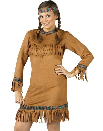 Fun World Native American Indian Pocahontas Costume Plus
