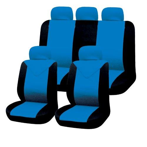 Filmer 37253 Autositzbezüge-Set, 11tlg., blau-schwarz