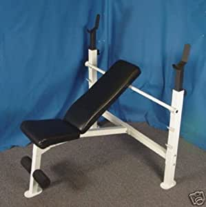 Olympic Bench Press W Regular 185 Lb Black Weight Set Incline Weight Bench
