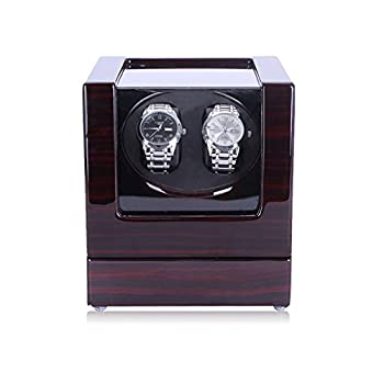 HiPai Automatic Double Watch Winder, Quiet Motor 5 Rotation Modes Self Winding Watch Rotator Box