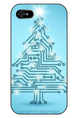 Sprawl Unique New Fashion Cartoon Circuit Board Snap On Protective Iphone 5S Case Tree Design front-1016423