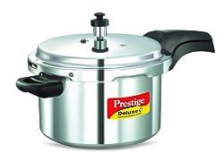 Prestige Deluxe Aluminum Pressure Cooker, 5-Liter
