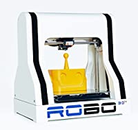 "ROBO 3D R1 Plus Fully Assembled 3D Printer, 8"" x 9"" x 10"" Maximum Build Dimensions, 100 Micron Maximum Resolution, 1.75-mm ABS, PLA, T-Glase, Laywood, HIPS, and Flexible Filament by ROBO 3D"