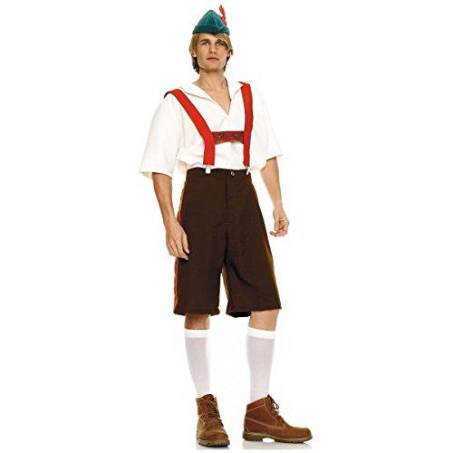 GSG Lederhosen Adult Mens German Beer Hansel Oktoberfest Costume Fancy Dress
