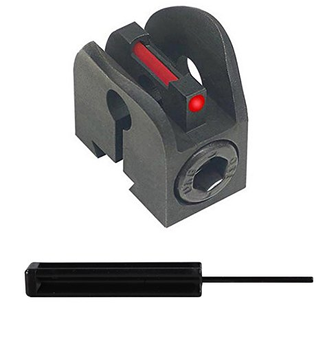 Kensight Fiber optic front Sight for M1 Garand rifle, 1.5mm red fiber optic insert + Ultimate Arms Gear 3/32 Pin Punch Armorers Gunsmith Tool (Gun Sight Insert compare prices)
