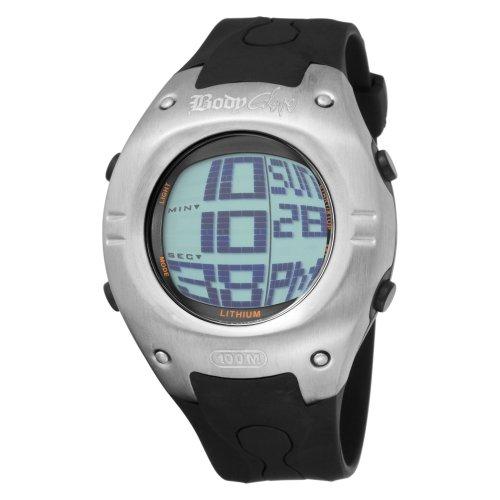 Body Glove Men's 70201 Warpt Digital Silver and Black Watch