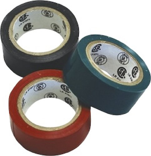Seasense Electrical Vinyl Tape, 3 Pack Green, Red, And Black