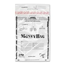 PM Company SecurIT Plastic Disposable Deposit Money Bag 58004
