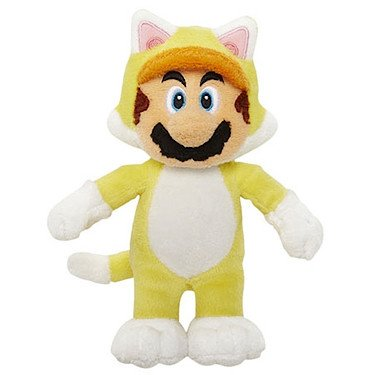 "Super Mario Series 3 Cat Mario 7"" Plush"