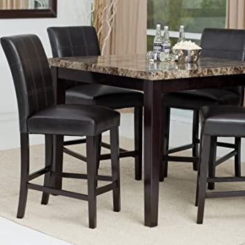 Palazo 5-Piece Counter Height Dining Set (Table, 4 Stools)