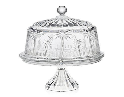 Godinger Silver Art Palm Cake Plate 4 in 1 (Godinger Crystal Cake Plate compare prices)