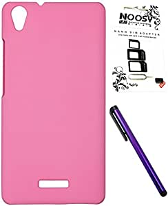 FCS Rubberised Hard Back Case For Lava Iris X9 With Sim Adaptor And Capacitive Touch Screen Stylus