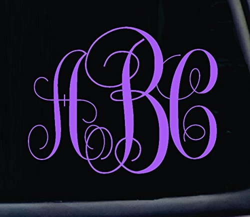 3 Letter Classic Monogram Decal. Choose the color and size. Perfect for car windows, Yeti cups, computer case, water bottle, etc.