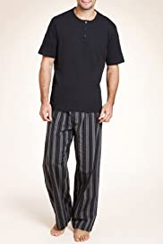 Authentic Embroidered Striped Top & Bottoms Set [T07-2871-S]
