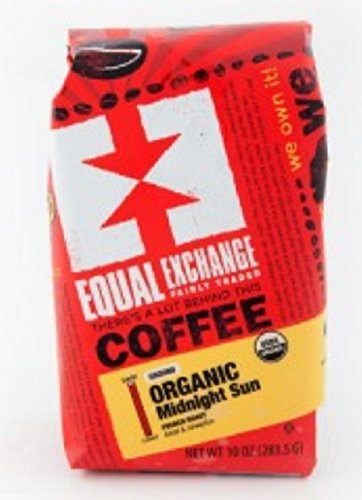 Equal Exchange Organic Coffee, Midnight Sun, Drip, 12 Ounces, 3 Pack