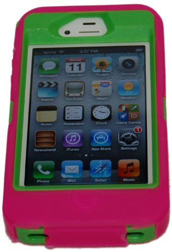 iphone-4-4s-body-armor-defender-case-hot-pink-on-green-bonus-free-usb-color-charging-cord-save-the-t