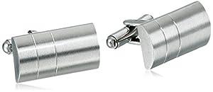 Men's Stainless Steel Rectangular Cuff Links