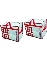 Set Of 2 The Red Storage Bag For Lofts And Trunks