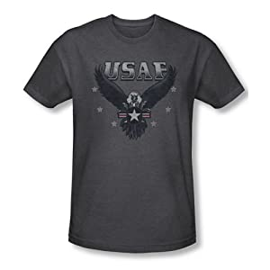 Air Force Incoming Men's Charcoal Heather T-Shirt by Trevco