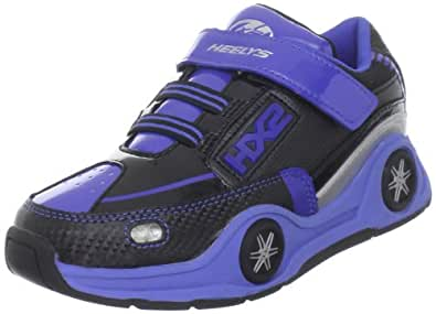 Heelys Spin Skate Shoe (Little Kid),Black/Blue/Silver,1 M US Little Kid