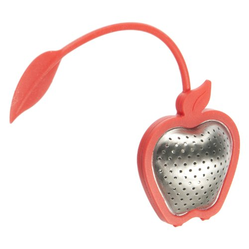 G&H Tea Services Apple Orchard Tea Infuser, Red