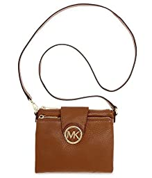 Michael Kors Fulton Women\'s Leather Crossbody Handbag Brown