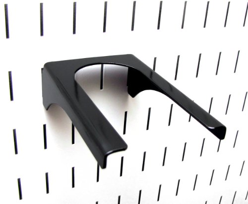 "Wall Control 10-HH-3050 B 2"" Handle Pegboard Bracket Slotted Metal Pegboard Hook for Wall Control Pegboard Only, Black"