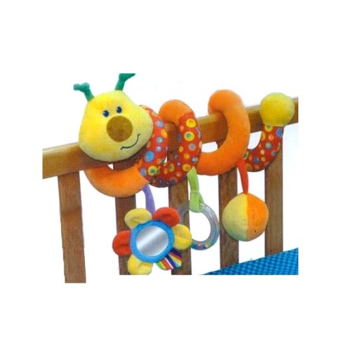 My 1st Baby Spiral Cot Activity Hanging Toy for Cot, Car Seat, Pushchair - Caterpillar