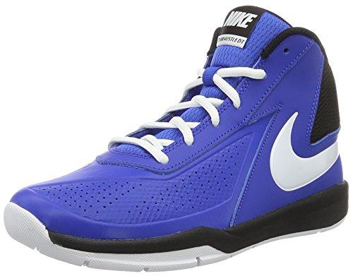 Nike Team Hustle D7 Gs, Scarpe da Basketball Bambini e Ragazzi, Multicolore (Game Royal/White/Black), 40 EU