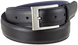 Nautica Men's 32Mm Glove Nappa Cowhide Dress Belt,Black,32