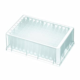 Axygen P-1ML-SQ-C Deep Well 96-Well x 1.1mL Assay Storage Microplate with Square Wells, Clear PP (1 Case: 5 Plates/Unit; 10 Units/Case)