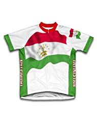 Tajikistan Flag Short Sleeve Cycling Jersey for Women
