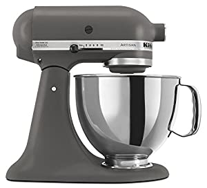 KitchenAid KSM150PSGR 5-Quart Artisan Series Mixer with Pouring Shield, Imperial Grey