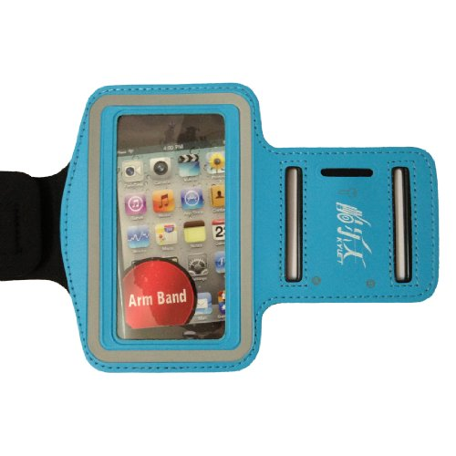 Light Blue New Elastic Sports - Running Armband Cover Case For Iphone 4S ,4 ,4G, 3G, 3Gs,Ipodtouch 3 And 4